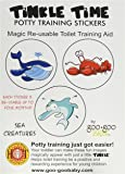 Tinkle Time Reusable Potty Training Stickers - Potty Train in a day! Sea Creature Theme