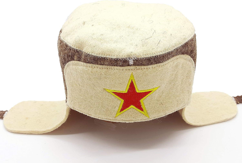 Sauna Hats Russian SHSH trade group Ukrainian Wool Sauna Hat Embroidered Ushanka with Star Russian Banya Hat for Men Sauna Hat for Men Sauna Hat Finnish Ukraine Sauna Hat Wool