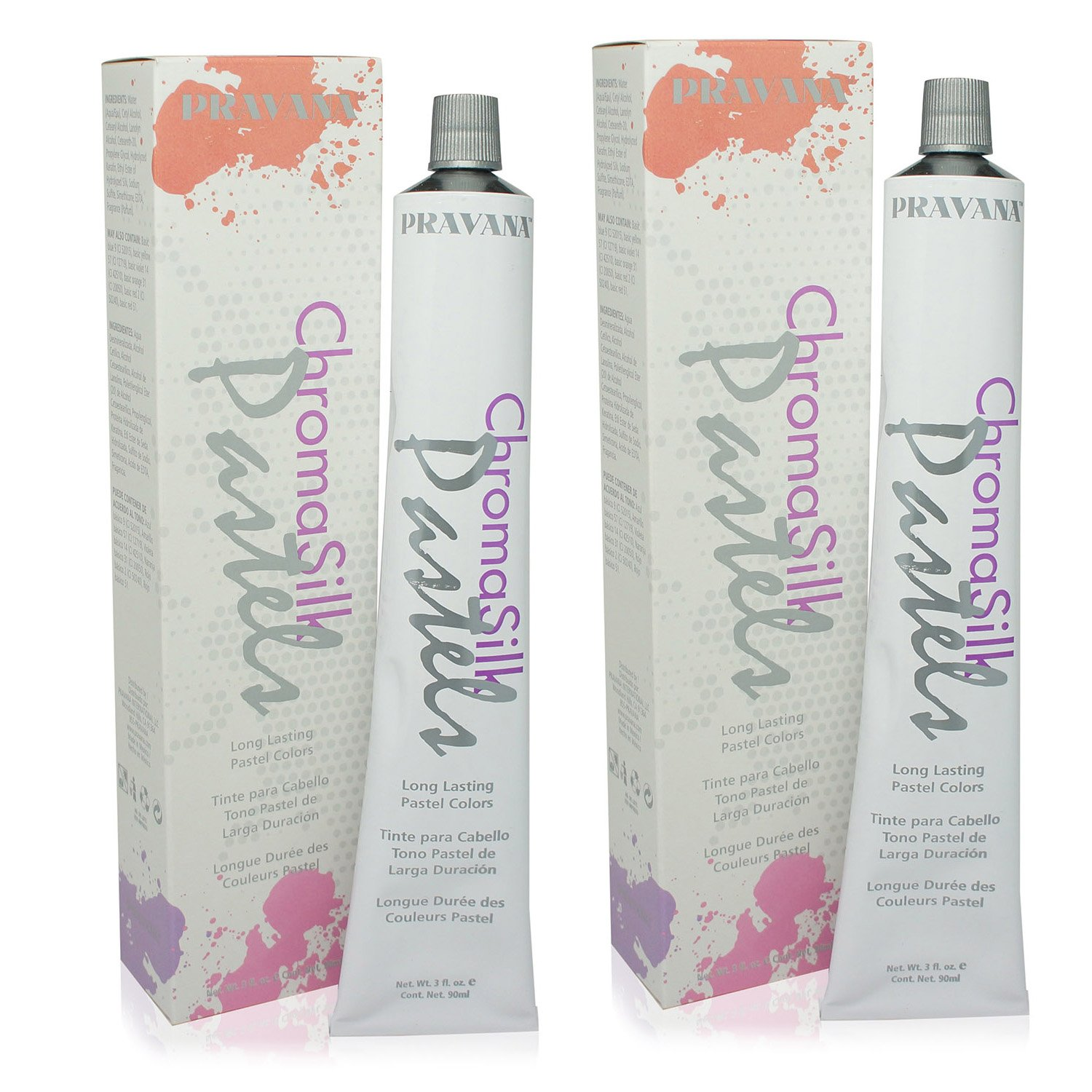 Pravana ChromaSilk Pastels (Pretty in Pink), 3 Fl 0z - 2 Pack by Pravana