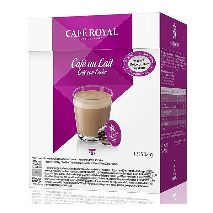Café Royal Cream Juego, Café, caffelatte, cacao, para Nescafé Dolce Gusto (64 Cápsulas: Amazon.es: Hogar