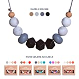 Amazon Price History for:Baby Teething Necklace for Mom by Koala&Co. With BPA Free Silicone Chewbeads - Our Teether & Nursing Necklaces are the Perfect Baby Gift (Marble Mousse)