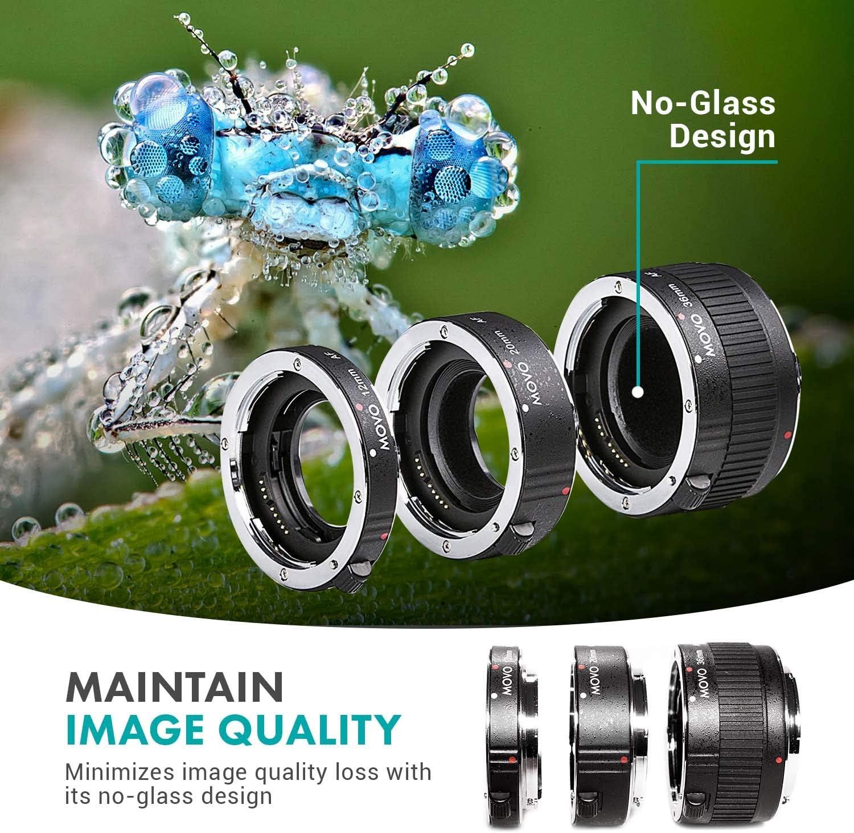 Movo Mt S68 Makro Verlängerungsrohr Set Für Sony Alpha Kamera