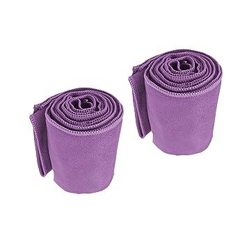 Au Bella Microfibre Toallas de Gimnasia para Entrenamiento y Deportes, Absorbente, Secado Rápido, 2 Pack sin Olor (Purple): Amazon.es: Deportes y aire libre