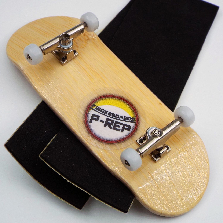1 Complete 34mm Yellow Fingerboard,32mm Trucks,Bearing Wheels,Grip Tape,Stickers
