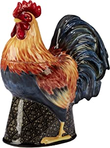 "Certified International 11.25"" Gilded Rooster 3-D Cookie Jar, One Size, Multicolor"
