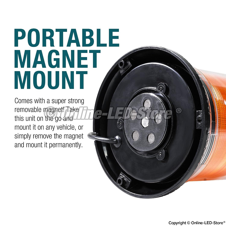 Emergency Strobe Led Beacon Light 12 Watt 14 Modes Circuit Amazon Account Pinterest Powerful Magnet Dust Cover 13ft Cord Warning Flashing Vehicle Lights For