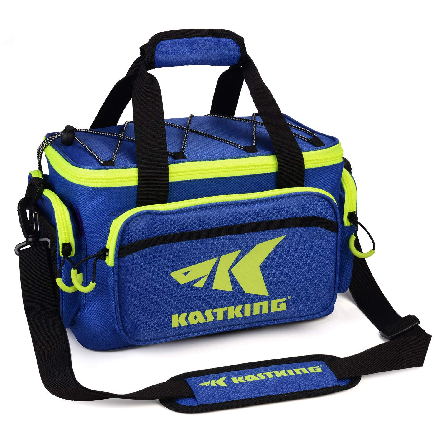 KastKing Fishing Tackle Bags - Fishing Bags for Saltwater or Freshwater Fishing - Rip-Stop PE - Padded Shoulder Strap - Plier Storage