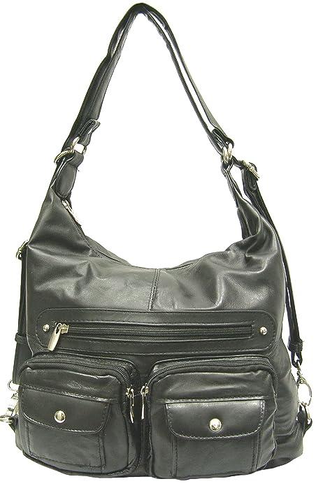 Handcrafted Genuine Leather Mujer rm030 cartera, mochila Large: Amazon.es: Zapatos y complementos