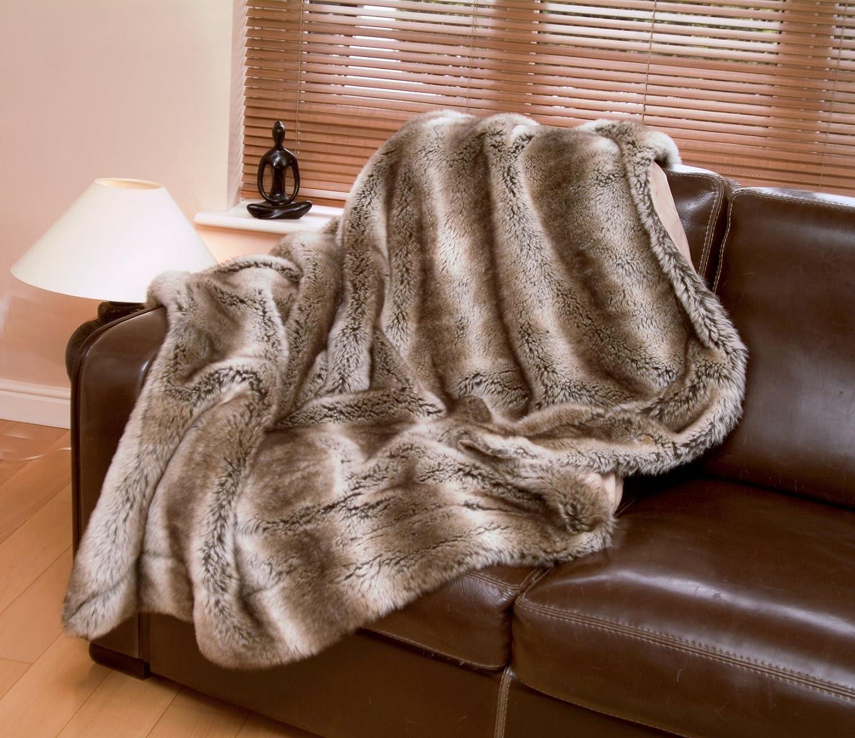 Lovely Faux Fur Throws Tundra Wolf Luxury (Standard 140 X 180 Cm): Amazon.co.uk:  Kitchen U0026 Home