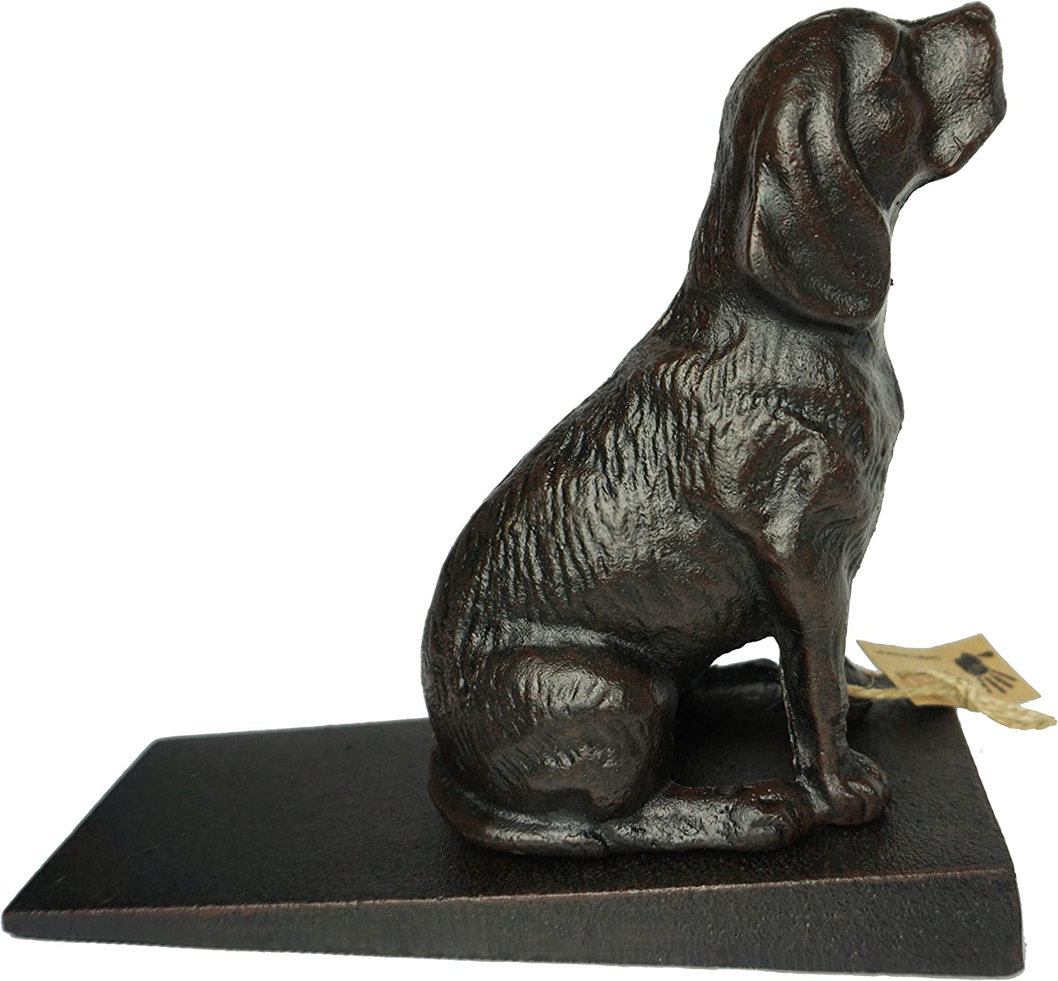 "Lulu Decor Cast Iron Heavy Duty 6 lbs 9 oz Dog Door Stopper with Base, Measures 7"" H, 3.5"" W and 8.25"" L, Cute, Good Looking Dog"