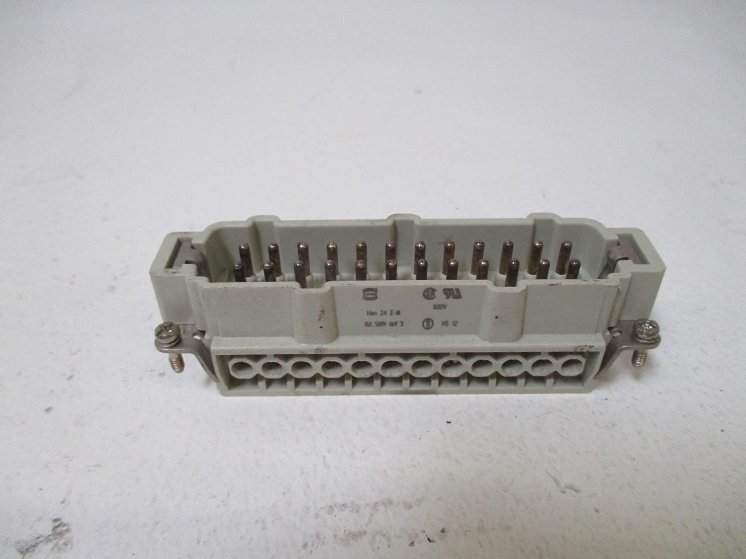 Harting HAN 24E-M 24 Pin Connector 15A 500V  USED