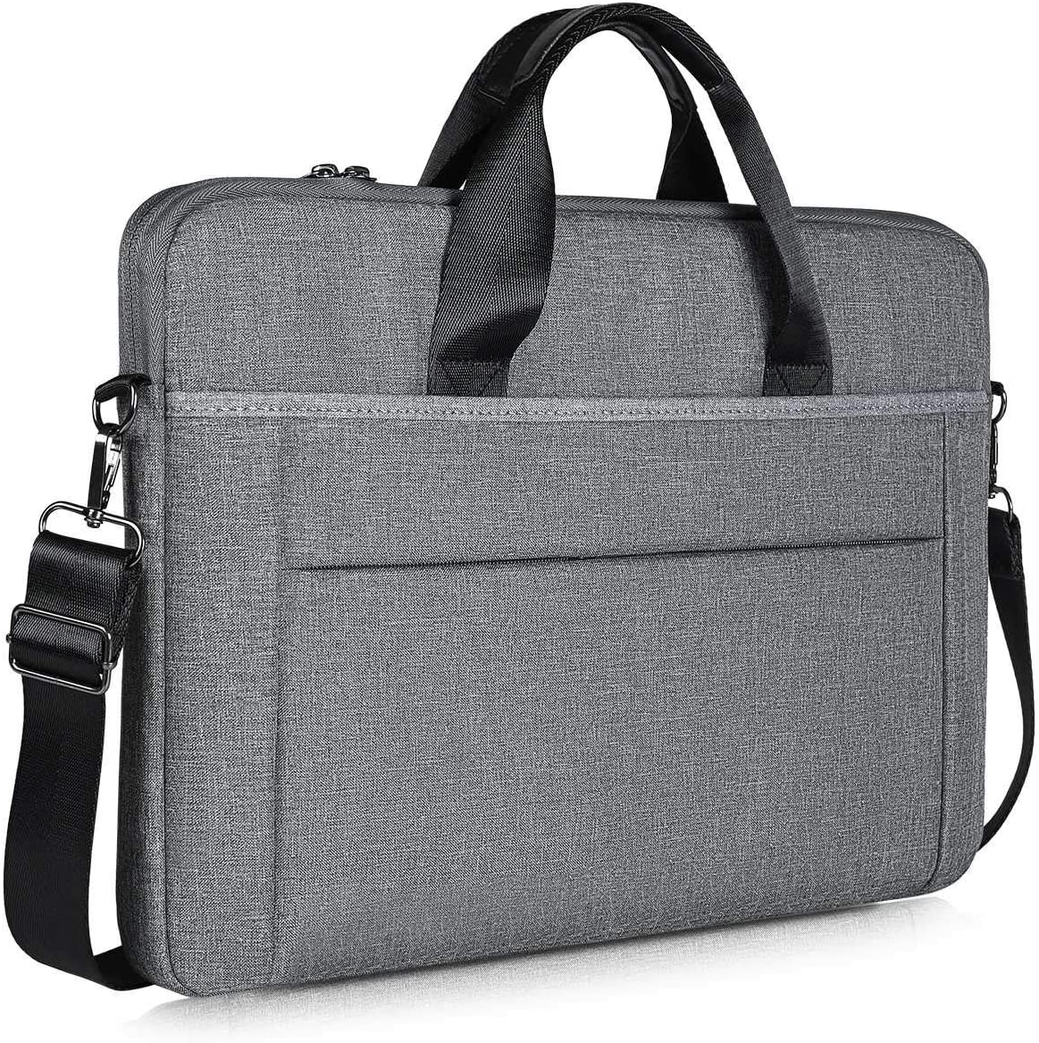 17-17.3 Inch Slim Laptop Case Shoulder Bag for HP 17.3 Laptop, Acer Predator 17, Dell Inspiron 17, Lenovo Ideapad L340 17.3, 17 inch Water Resisatant Business Briefcase Bag for Men and Women, Grey