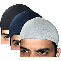 Elk Men's & Women's Cotton Helmet Cap (Pack of 3_Multicolor) Seller Apparel