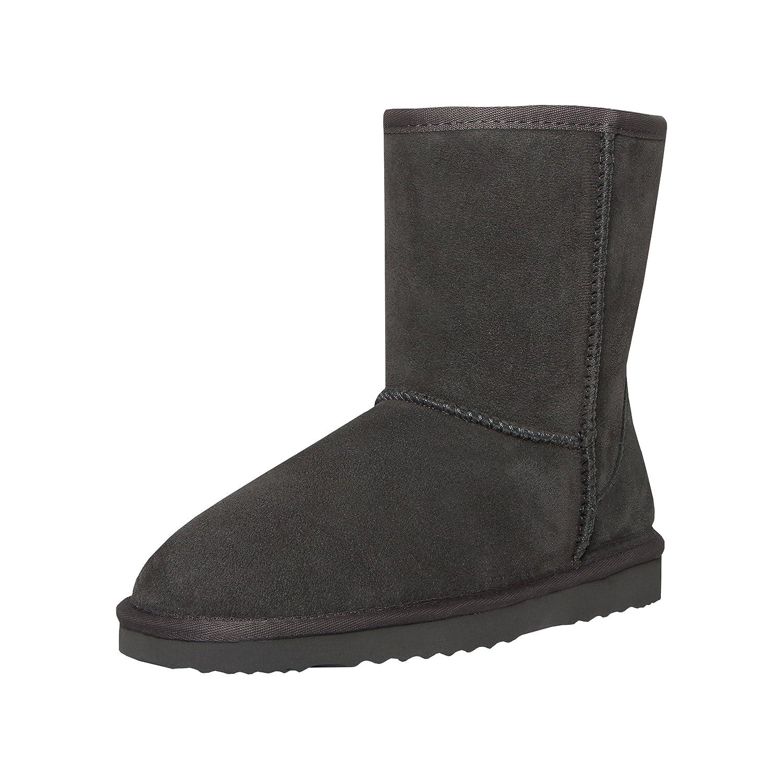SKUTARI Neige - Femme Hiver Neige Fourrure Boots Fourée Classic Sparkle Fox Bow Fox Fur Cuir Fourée Chaussures Gris 20988de - therethere.space