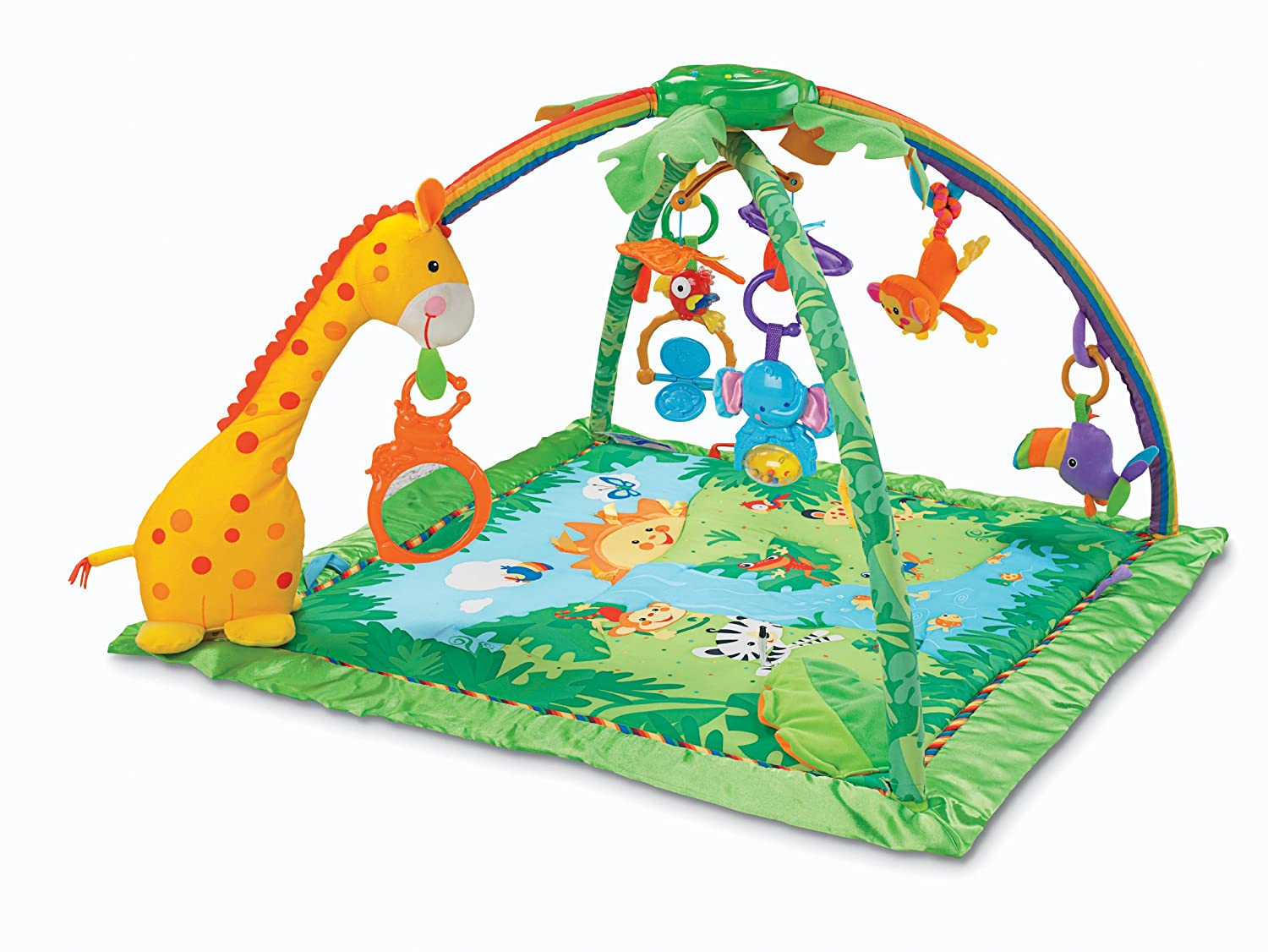 Fisher-Price Rainforest Melodies & Lights Deluxe Gym   B0084DQP4K