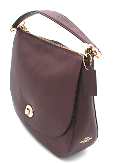 Image Unavailable. Image not available for. Color  Coach Turnlock Hobo  Pebble Leather Shoulder Bag ... 06cda560f65c2