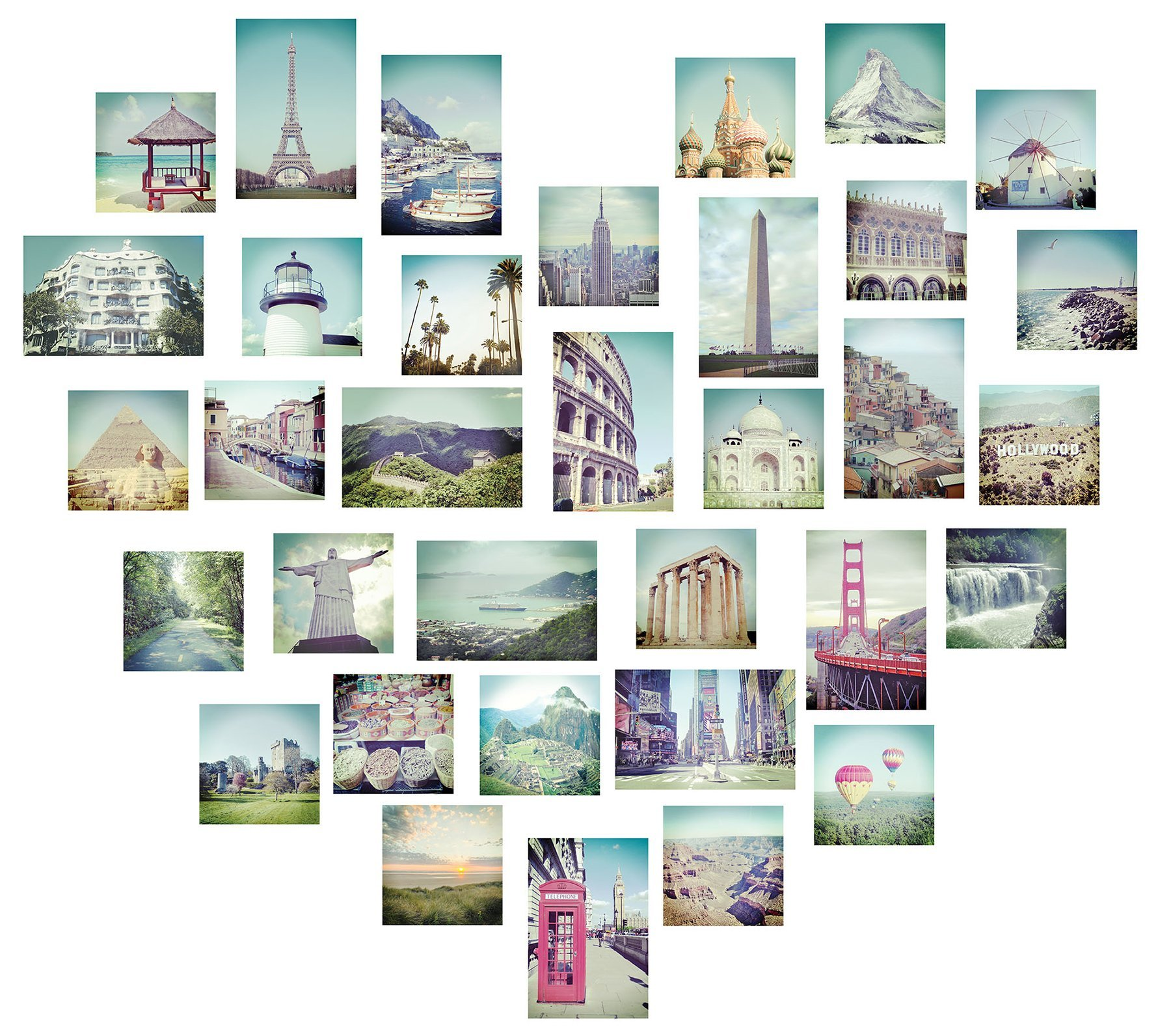 Vinilo Decorativo Pared [1GCR5Z36] imagenes ciudades corazon