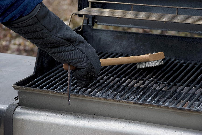 Weber Grillbürste Für Holzkohlegrill : Weber grillbürste mit bambus holzgriff cm amazon garten