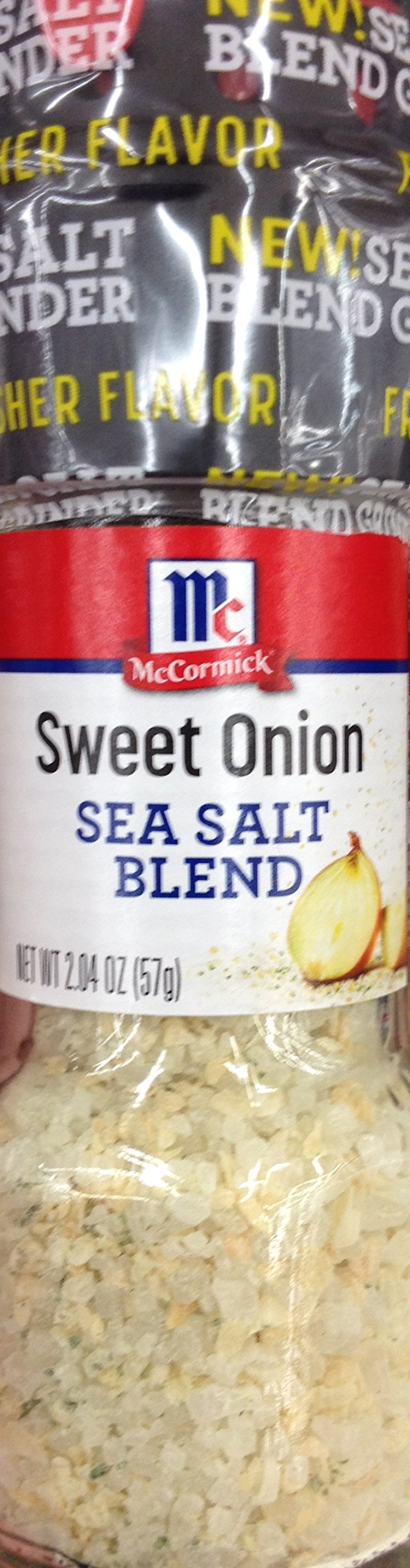 McCormick SWEET ONION Sea Salt Blend GRINDER 2.04oz (5 Pack)