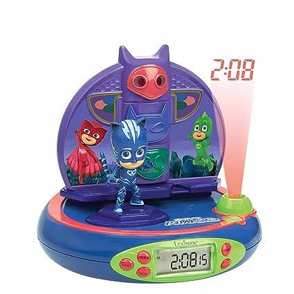 Pj Mask- Pijamasks-Radio Despertador con Proyección De La Hora (Lexibook RP500PJM) PJ Masks L
