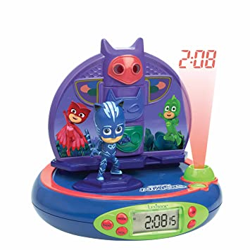 Pj Mask Pijamasks-Radio Despertador con Proyección De La Hora (Lexibook RP500PJM)