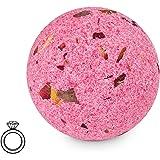 JewelBath Rose - Boule de bain avec bijou surprise (bague en argent, soin hydratant)(L)
