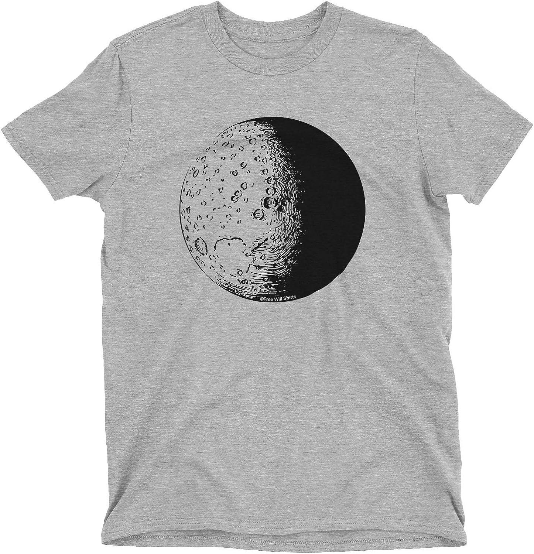 Free Will Shirts Kids Boys Girls Unisex Astronomy T-Shirt The Moon
