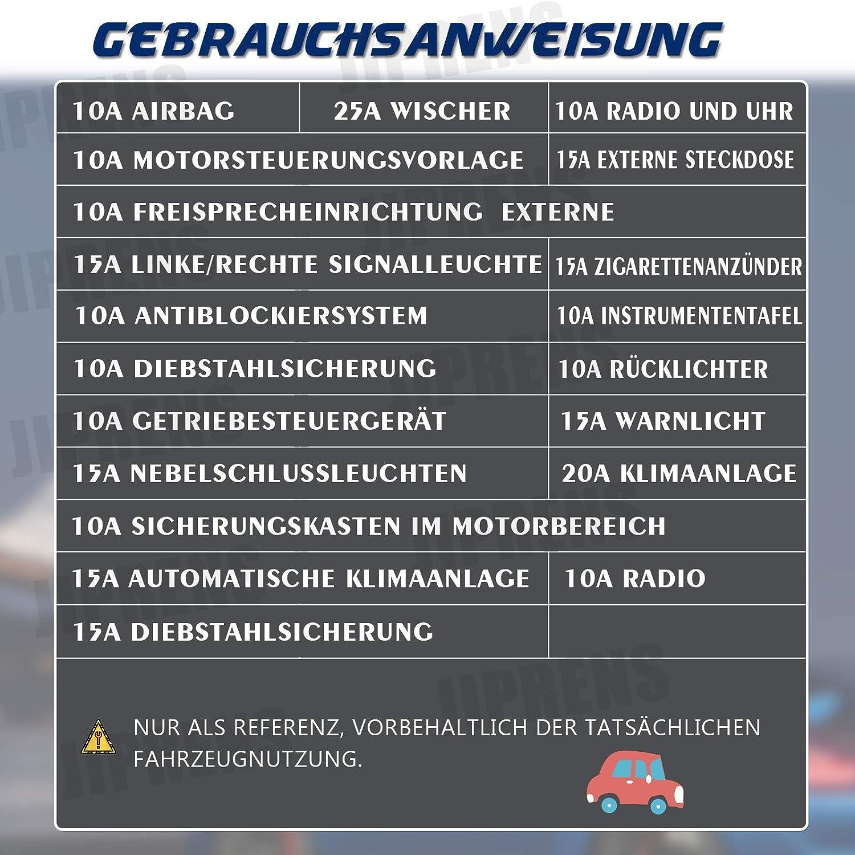 Standard Auto Sicherung Set mit 1 Sicherungszieher f/ür Austausch von Standard Auto Sicherungen JIPRENS 340 St/ück Mini sicherungen kfz Autosicherungen Mini 2A//3A//5A//7.5A//10A//15A//20A//25A//30A//35A//40A