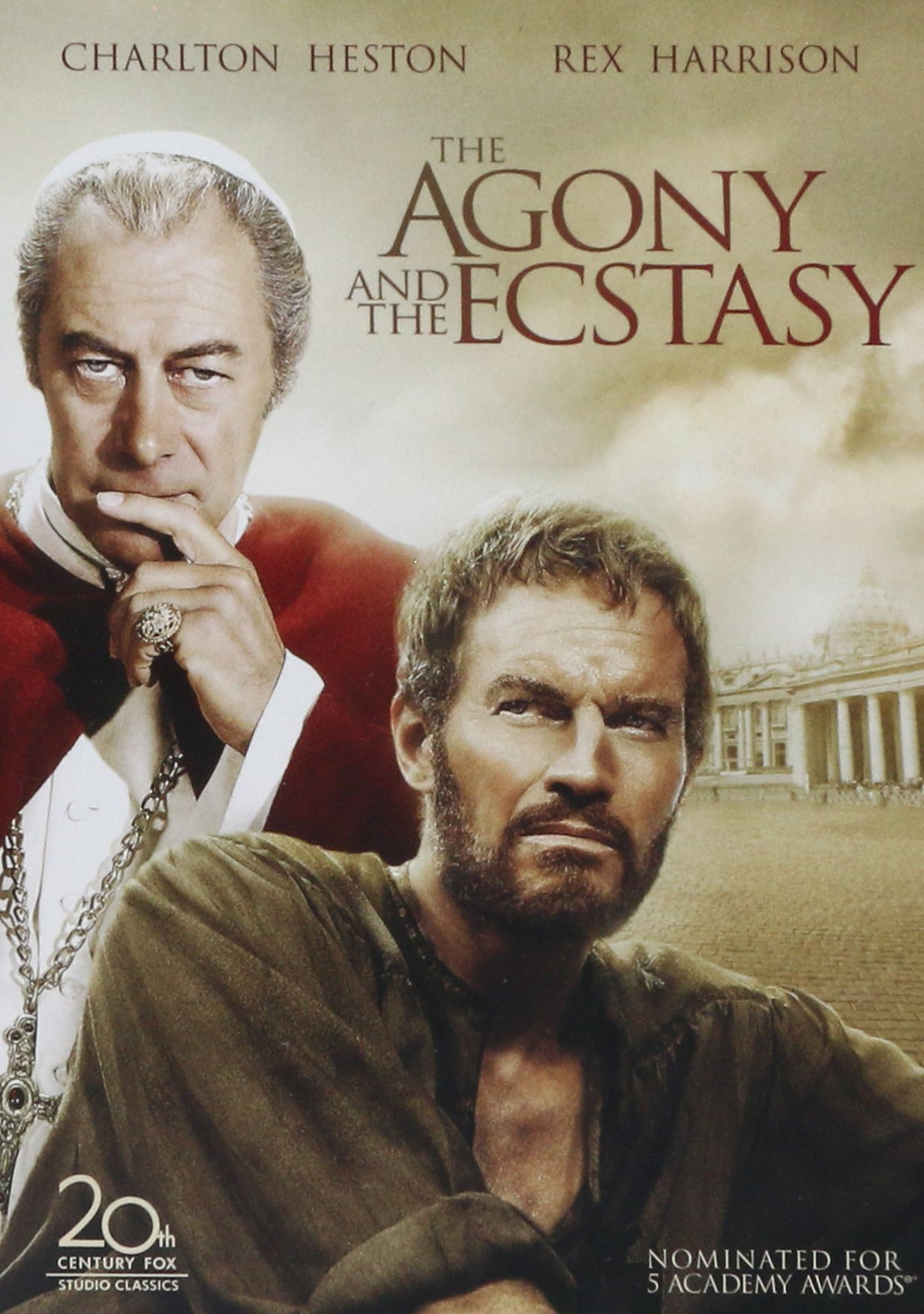 DVD : The Agony and the Ecstasy (Remastered, Repackaged, Sensormatic, Faceplate)