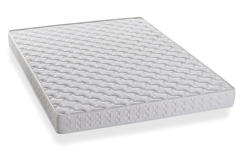 BEDPACKER Lisa colchón Espuma Poliuretano algodón Blanco Gran 140 x 190 cm: Amazon.es: Hogar
