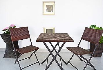 Kiefergarden Restoset Conjunto 2 sillas y Mesa de jardín