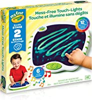 Crayola My First Touch Lights,for Toddlers, Mess-Free Portable Drawing Board, Art Supplies, for Girls and Boys, Gift for...