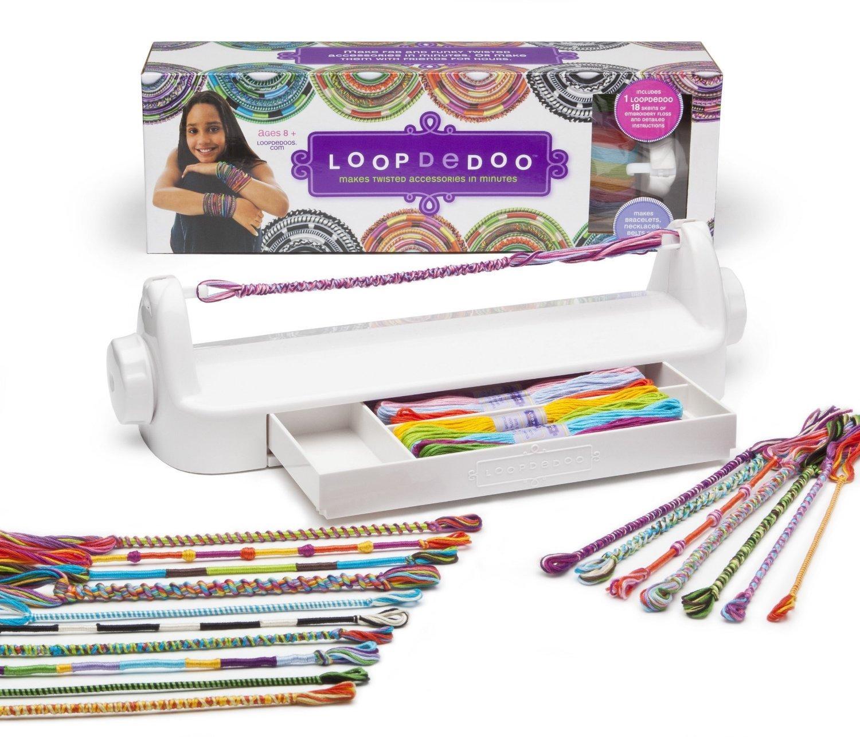Amazon: Loopdedoo Spinning Loom Kit Friendship Bracelet Maker: Varios:  Toys & Games