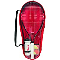 Wilson 儿童入门套装,Roger Federer 25,9-12岁,红色/黑色,WRT214000