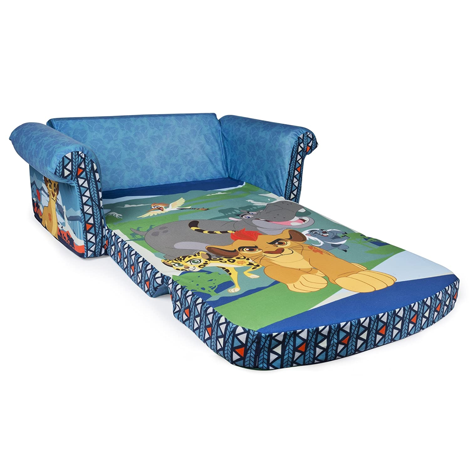 Amazon.com: Marshmallow Furniture, Childrenu0027s 2 In 1 Flip Open Foam Sofa,  Disney Junior The Lion Guard, By Spin Master: Toys U0026 Games