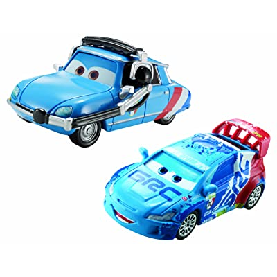 Disney Pixar Cars Raoul Caroule and BrUNO Motoreau Diecast Vehicle, 2-Pack: Toys & Games