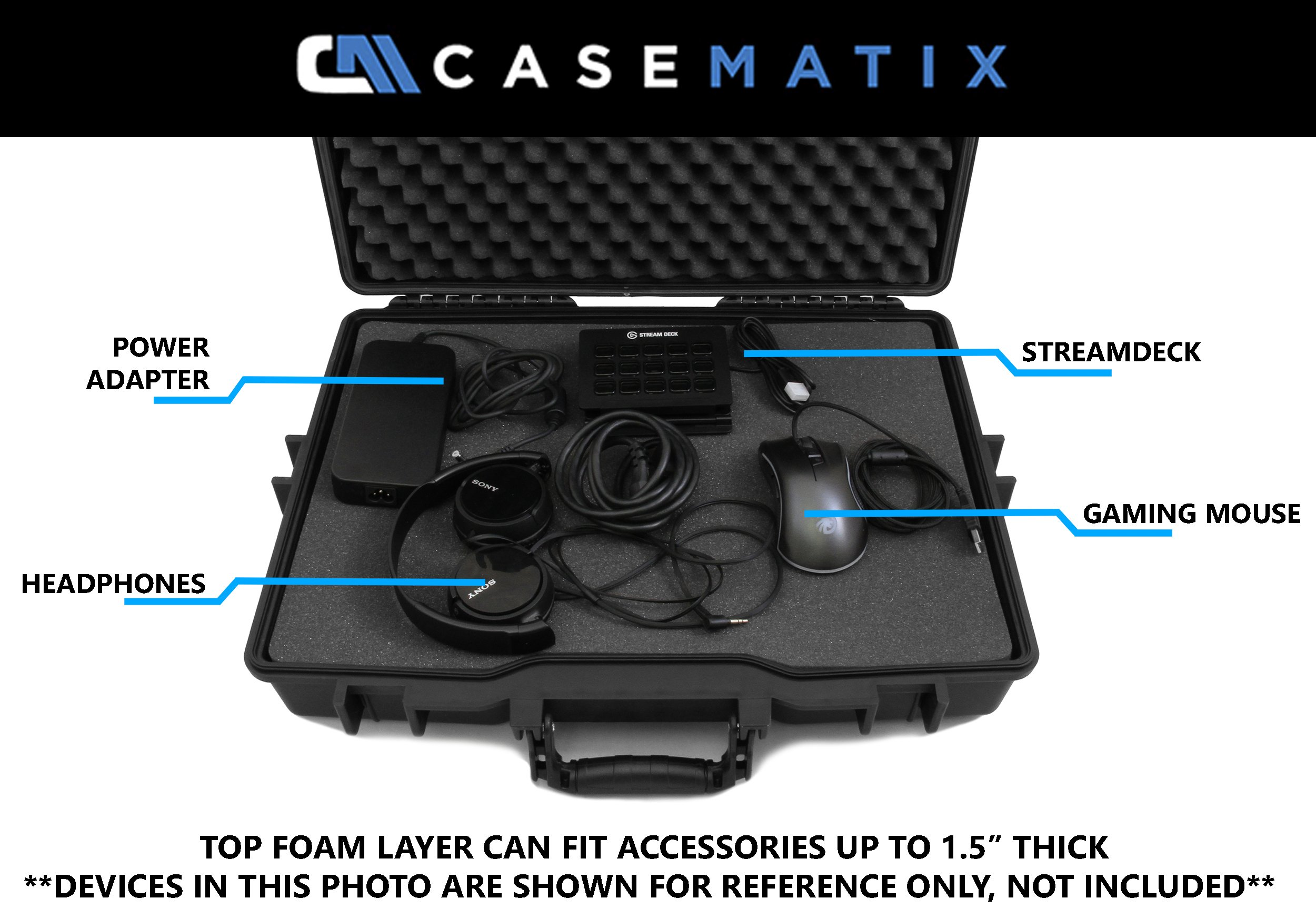 CASEMATIX Elite Custom Laptop Case for MSI Laptops MSI GL62M, MSI GL72N, MSI GS73VR Stealth PRO, MSI GS65 Stealth Thin, MSI GE63VR Raider, GT73VR Titan and More with MSI Accessories by CASEMATIX (Image #8)