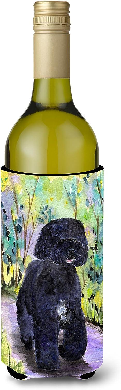 Caroline's Treasures SS8264LITERK Portuguese Water Dog Wine Bottle Beverage Insulator Beverage Insulator Hugger, Wine Bottle, multicolor