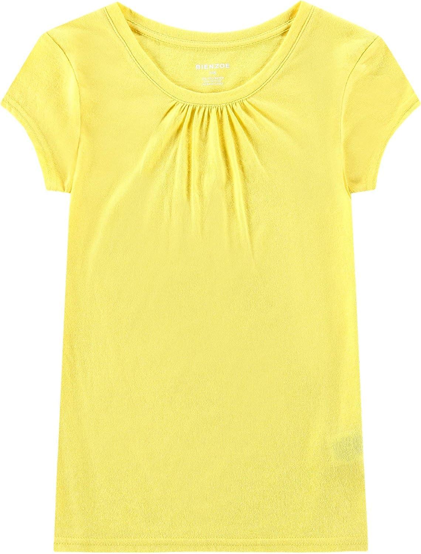 Bienzoe Girls School Uniform Breathable Quick Dry T-Shirt 3PCS Pack