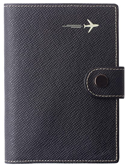 1f0a8431986f Passport Holder Cover Wallet RFID Blocking Leather Card Case Travel  Document Organizer
