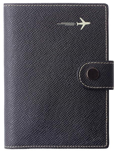 Amazon.com: Funda para pasaporte con bloqueo RFID de piel ...