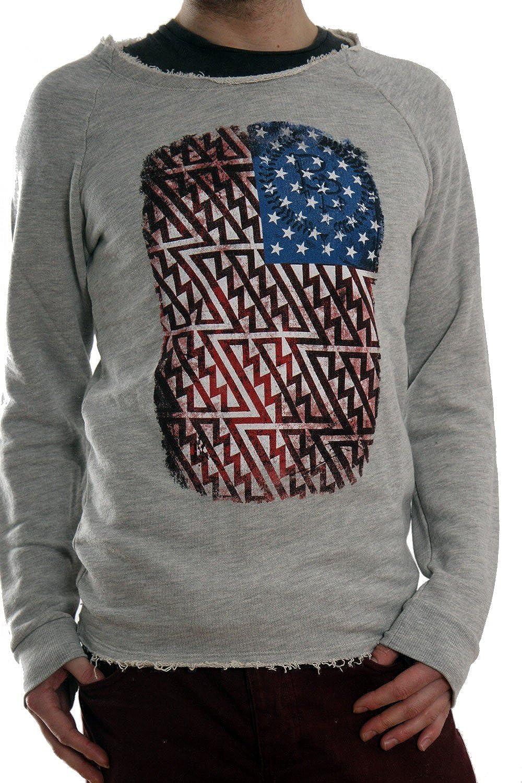 Boom Bap Sweater FlagUSA Grau