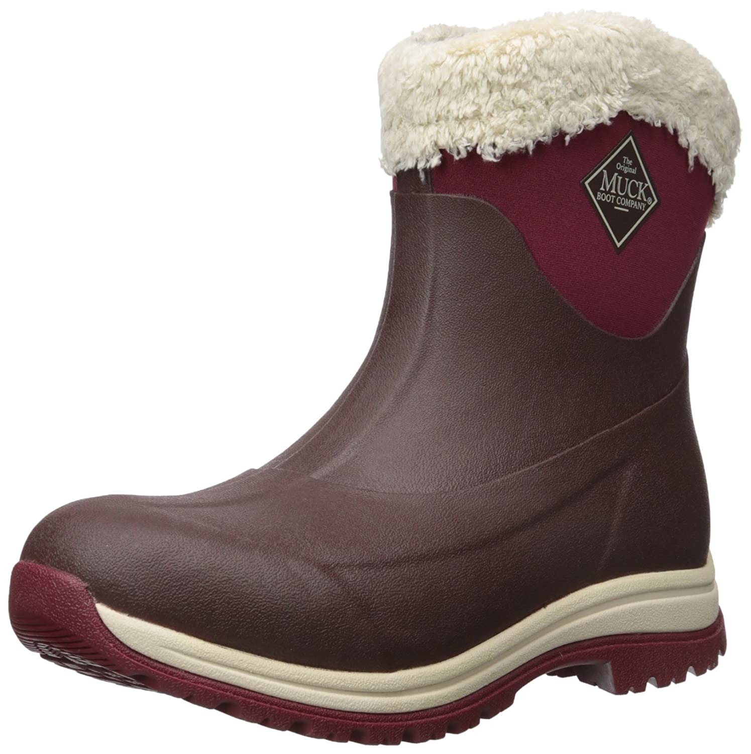 Muck Arctic Après Mid-Height Casual Slip-On Rubber Women's Winter Boots B01GK9426C 6 B(M) US|French Roast/Cordovan