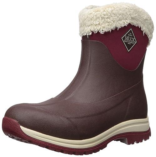 Muck Boots Arctic Apres, Botas de Agua para Mujer, Marrón (Otter/Total Eclispse Navy), 43 EU