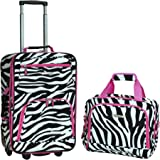 Rockland 2 Pc Luggage Set, Pinkzebra (Multi) - F102