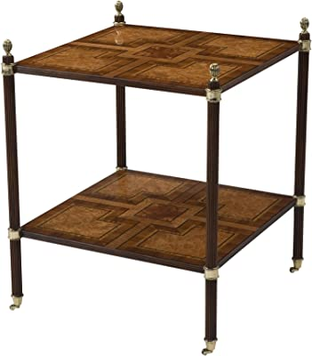 Parquetry Two Tier Accent Table