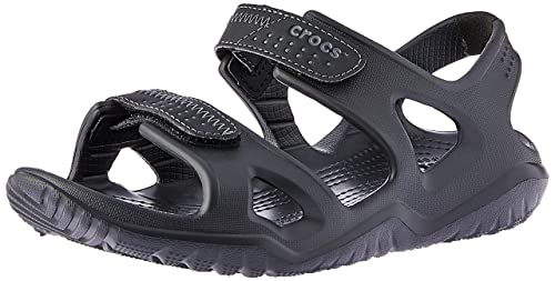 8209472d3045 Crocs Swiftwater River Men Sandal in Black  Buy Online at Low Prices in  India - Amazon.in