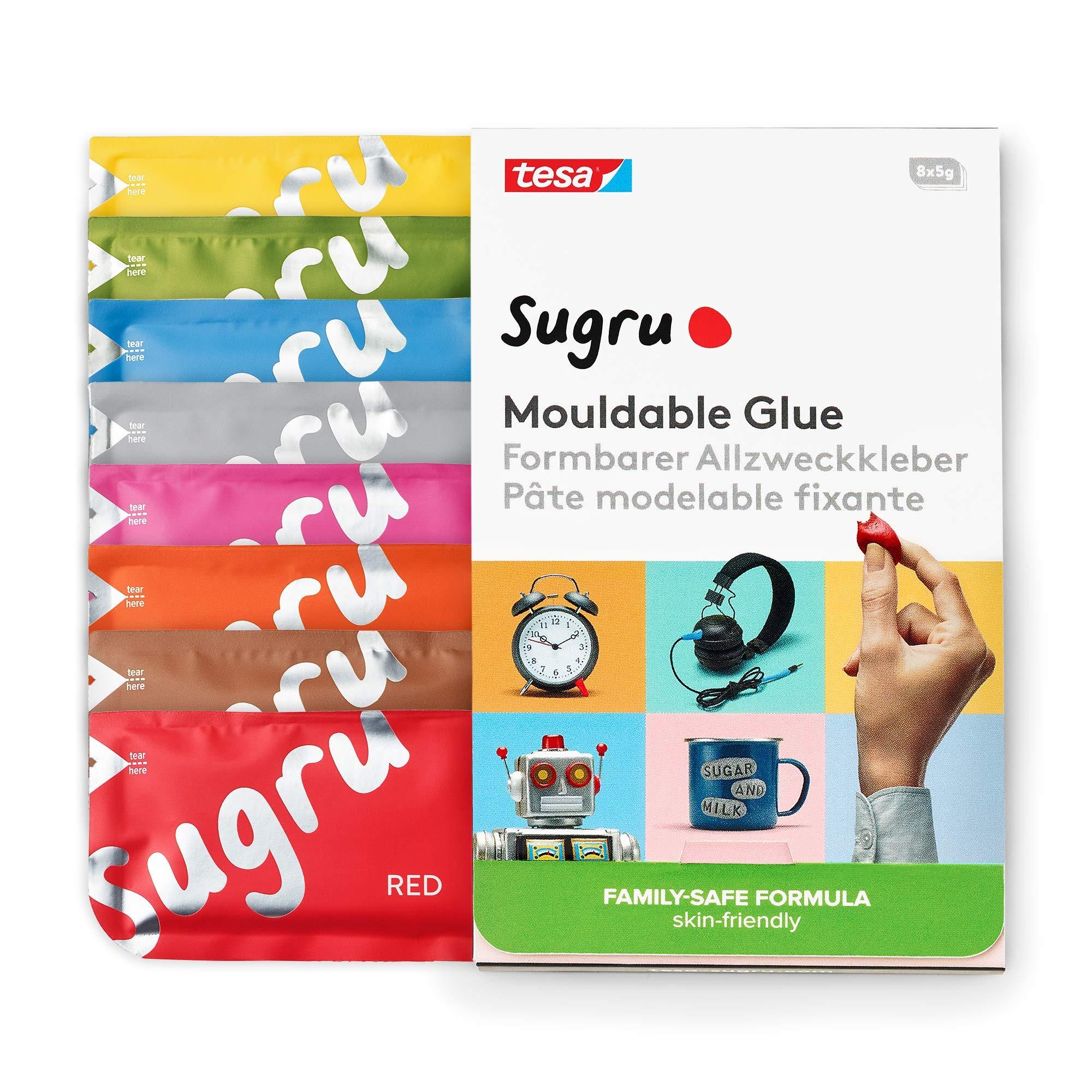 Tesa 41031 Sugru Malleable All-Purpose Glue Family Formula Very Skin-Friendly Maximum Load 2 kg, 41081 by tesa UK
