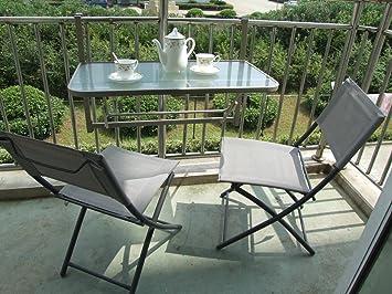 Balkon-set 3 Teilig Zusammenklappbar Gartenmoebel Haengetisch Mit ... Balkonmobel Kleinen Balkon Platz Optimieren