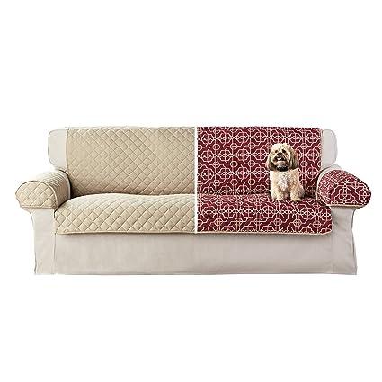 Amazon.com: Mainstay Reversible Microfiber 3 Piece Sofa ...